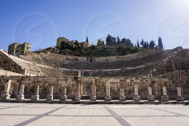 Roman theatre is an important landmark like a symbol of the Jordanian capital Amman it dates back to the Roman period when the city was known as Philadelphia photo