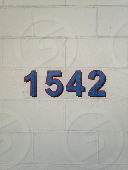 1542 print on wall  photo