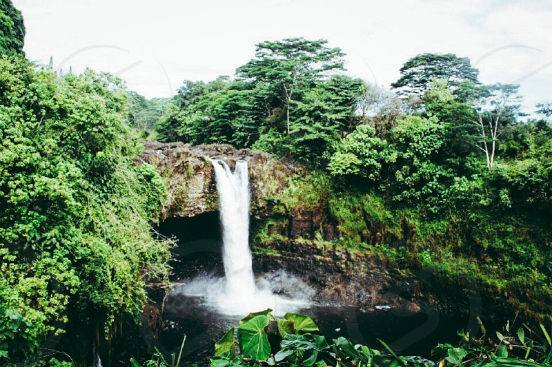 Rainbow Falls. Hilo Hawaii waterfall beautiful landscape adventure nature photo