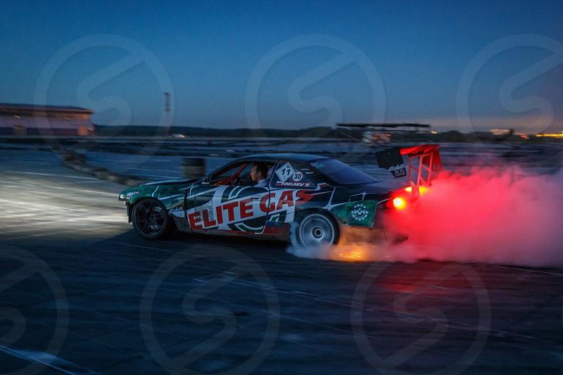 Night drift speed drive superman photo