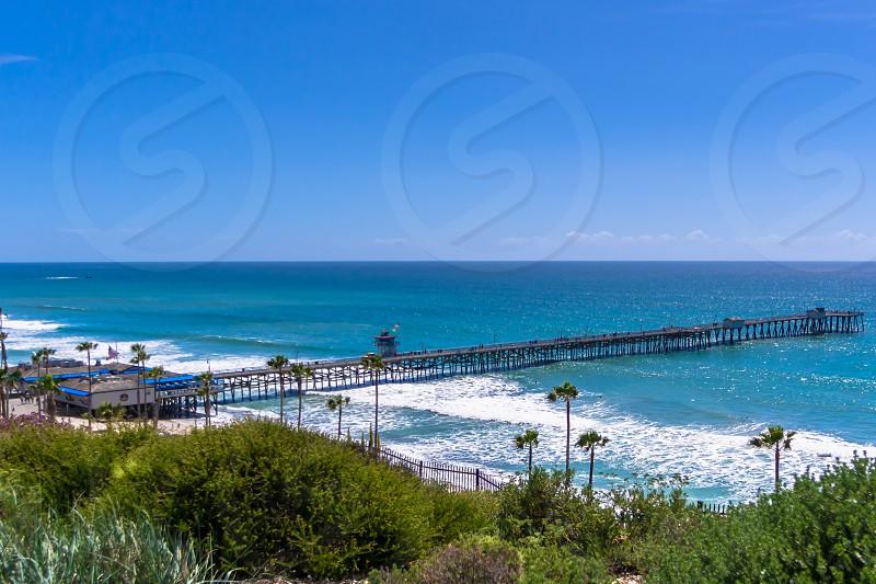 San Clemente Pier California Casa Romantica Pacific Ocean ocean shore beach Coastal  photo