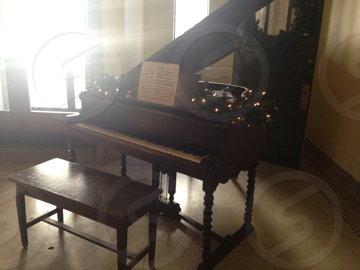 Christmas piano photo