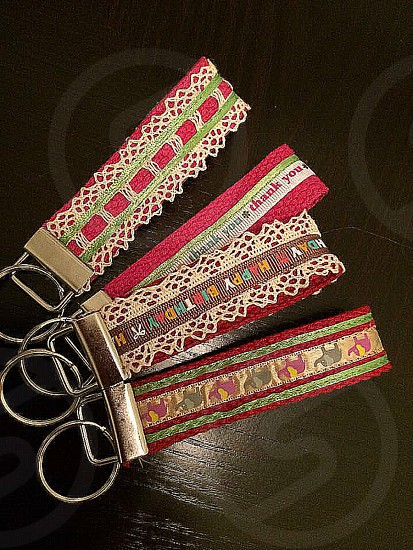 Sewing Key Rings Lace Crafts  photo