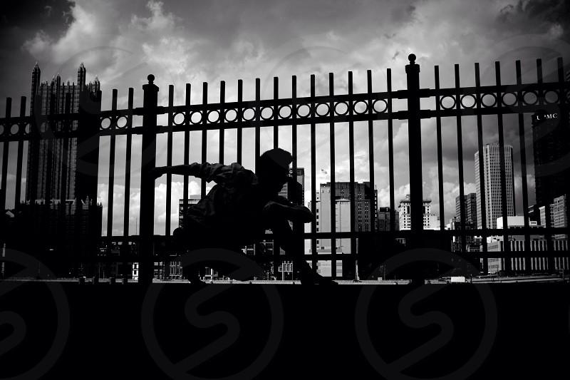 Dancer Pittsburgh Silhouette Black&White photo