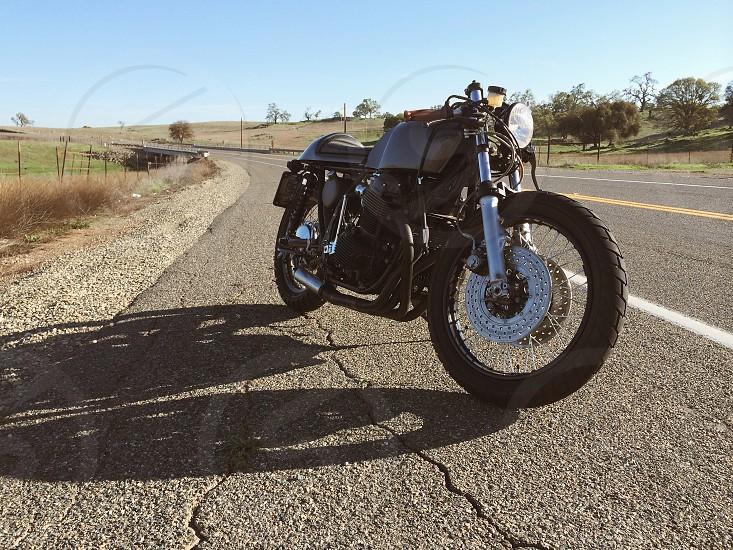 Cafe racer. 1970 honda cb750 motorbike photo