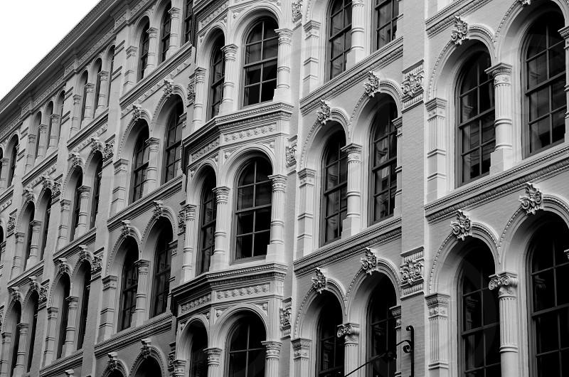 Windowsbuildingarchitectureblack and whitePhiladelphiaPennsylvaniaarches photo