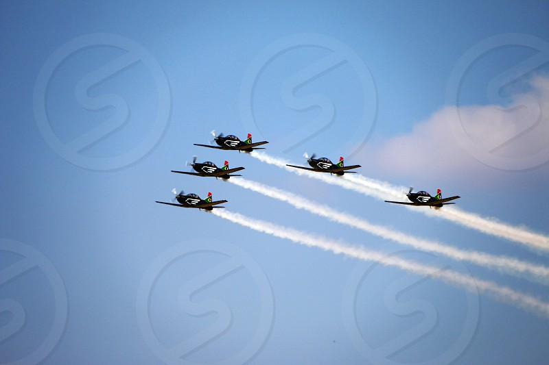 fly flight formation plane airplane  photo