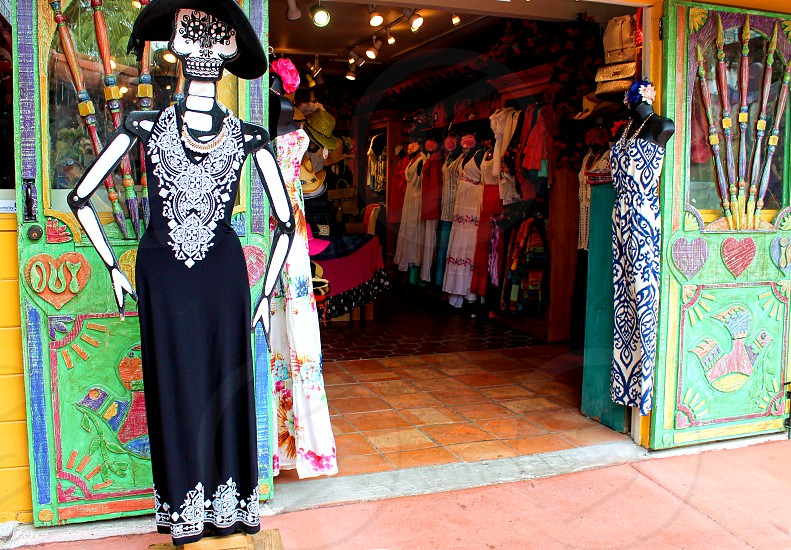 Colorful storefront selling ethnic Mexican costumes  photo