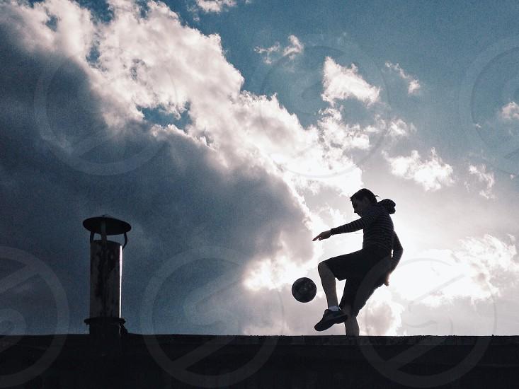 Street football player photo