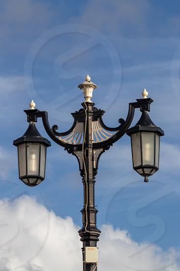 WORTHING WEST SUSSEX/UK - NOVEMBER 13 : Ornate old fashioned lamp post in Worthing West Sussex on November 13 2018 photo