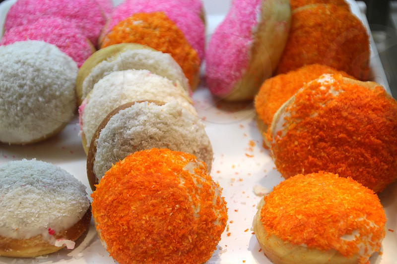 Multi-colored tasty donuts in a cafe window 1 Phnom Penh photo