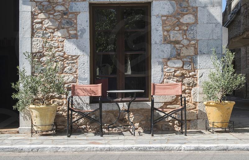Typical greek restaurant. Greece photo