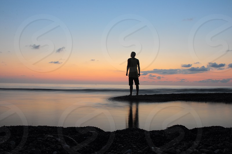 person by the beach photo