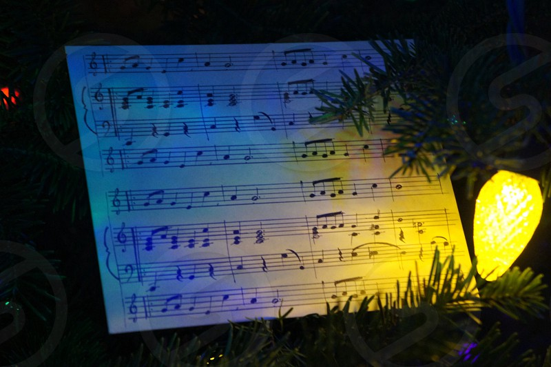 Musical Christmas tree decoration.  photo