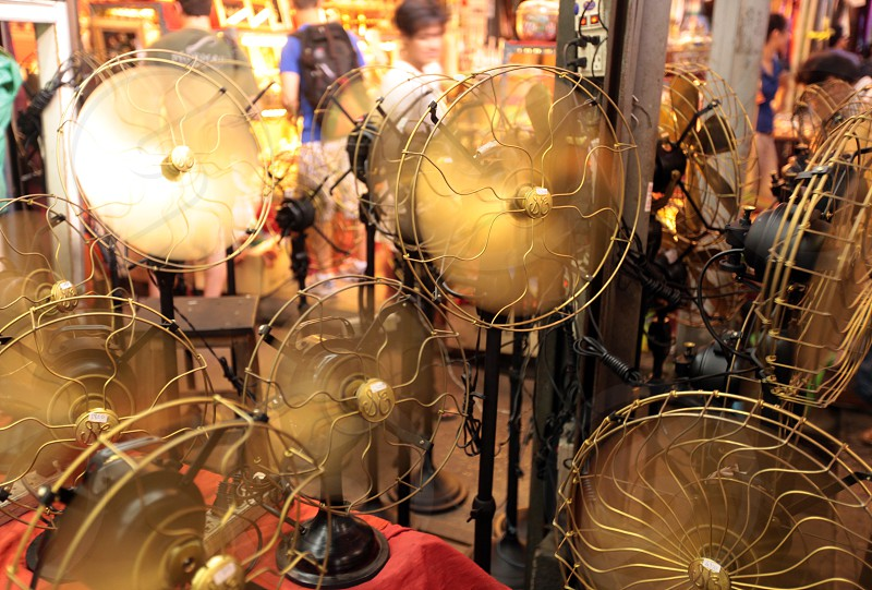 a fan shop at the Chatuchak weekend market in the city of Bangkok in Thailand in Suedostasien. photo