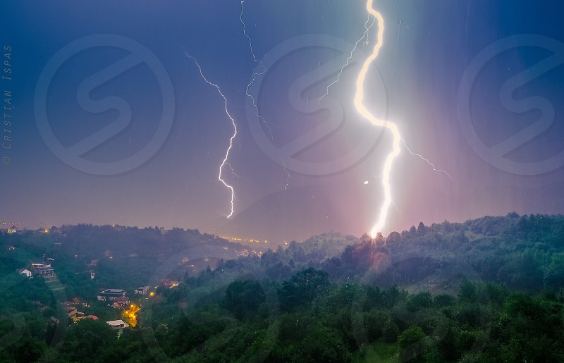 lightningrainstormnight skywetenergyvoltage photo