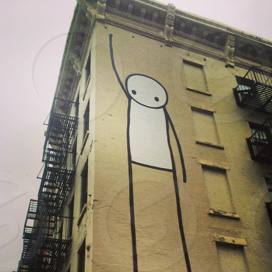 Stik graffiti art in Alphabet City East Village New York City photo