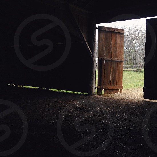 Barn door. photo