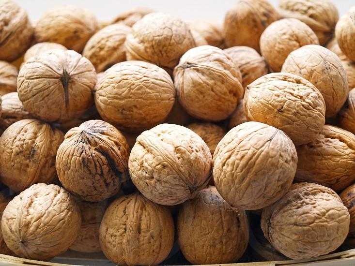 walnuts nuts basket food organic natural photo