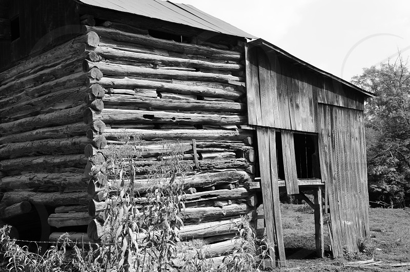 An old Tobacco barn along a country road in Eastern Ohio. photo