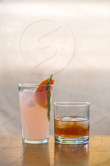 indoor shot of alcoholic beverage in natural white photo