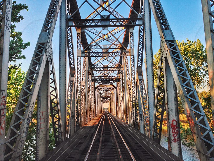 Train bridge Sacramento  photo