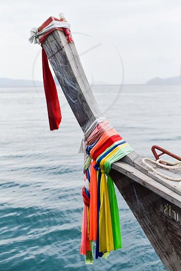 thailand travel boat longboat colors asia photo