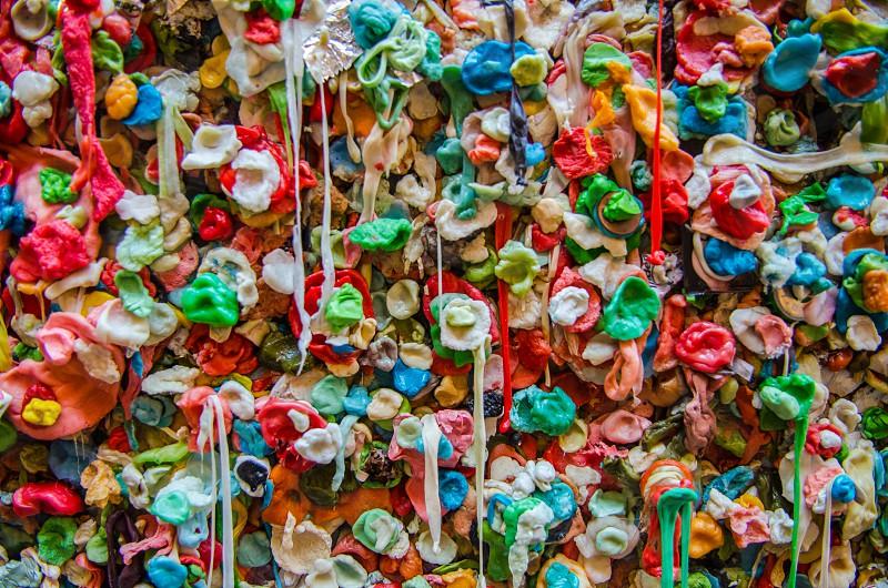 Gum wall Seattle Washington photo