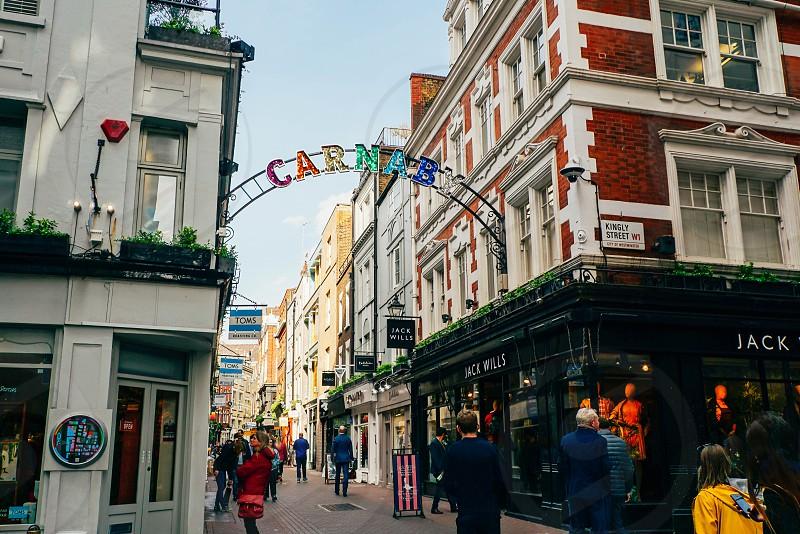 Soho London on a sunny day. photo