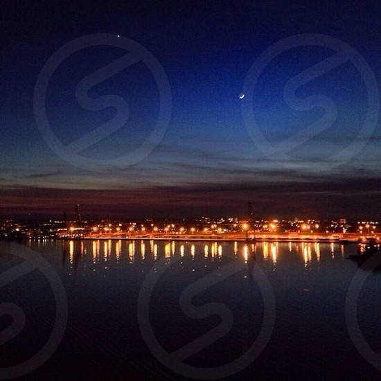 city night view with lights photograph photo