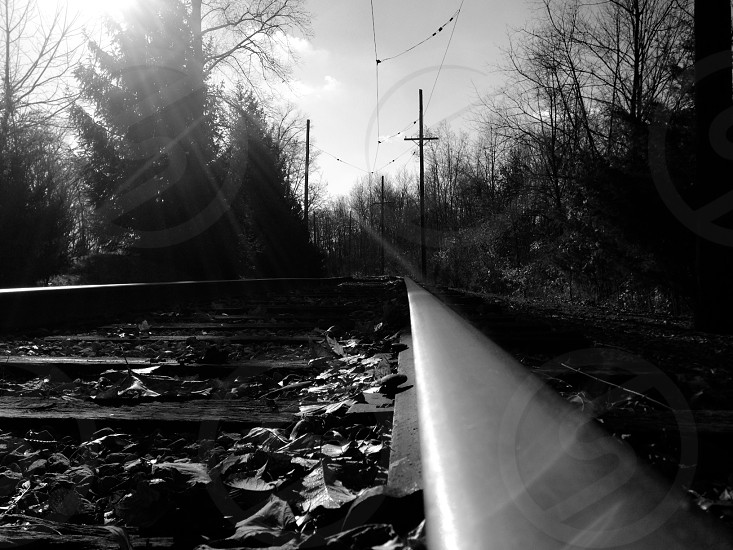 black railway photo