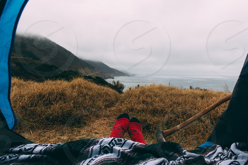 We camped in Big Sur CA. This was our morning view. photo