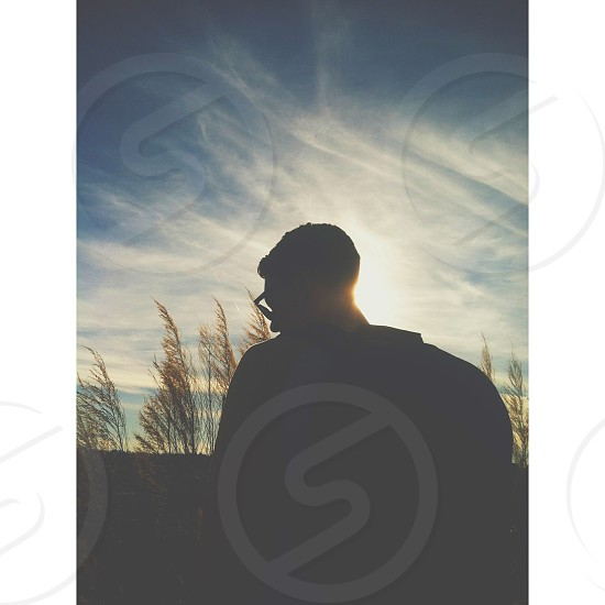 man silhouette photography  photo