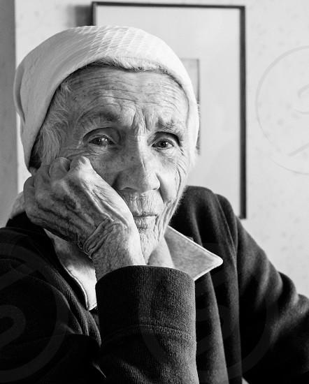 elder woman fighting cancer photo