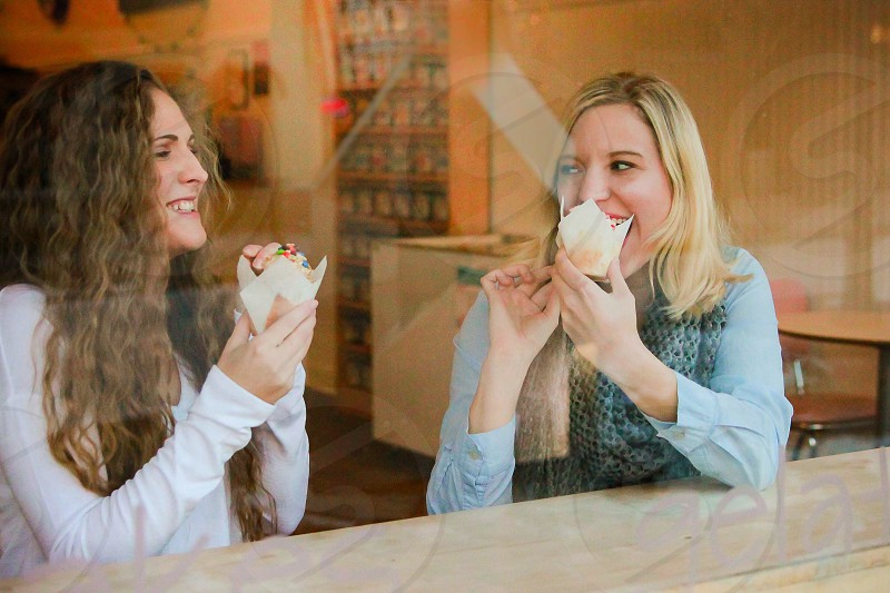 Love sharing cupcakes with friends! photo