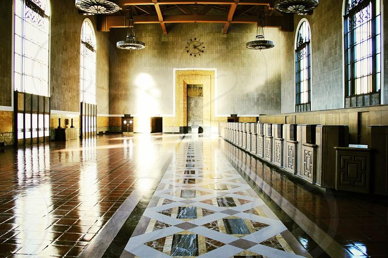 brown tiled floor photo