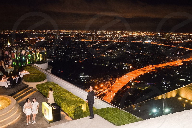 Bangkok Lebua at state tower sky view and bar photo