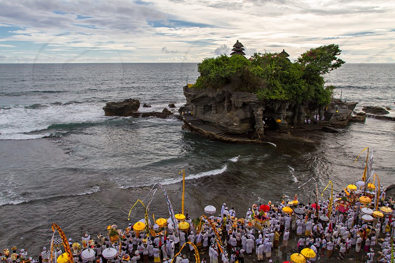 tanah lot; bali; indonesia; melasti; culture; festive photo