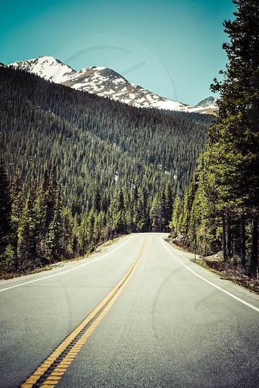 Mountain Road vintage look photo