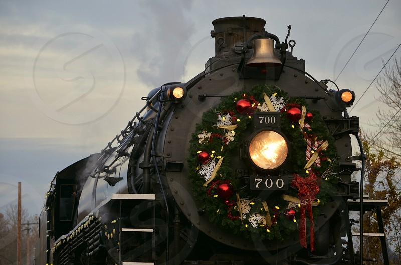 The Holiday Express Train Portland Oregon Wreath photo