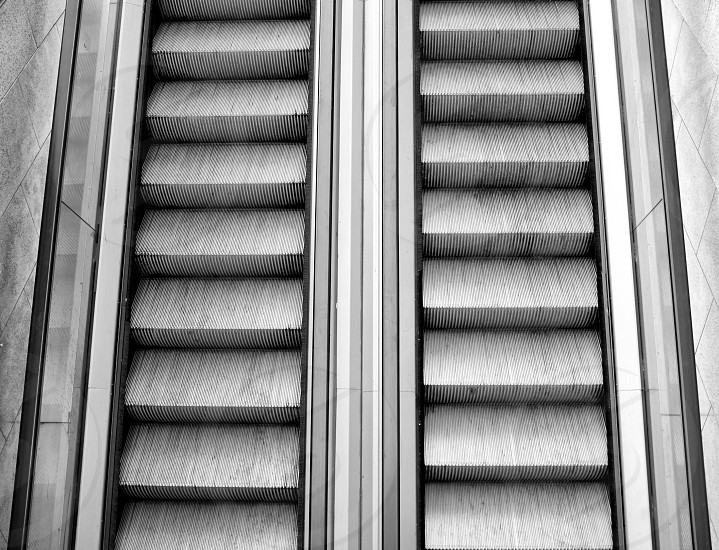 grey wooden stairs photo