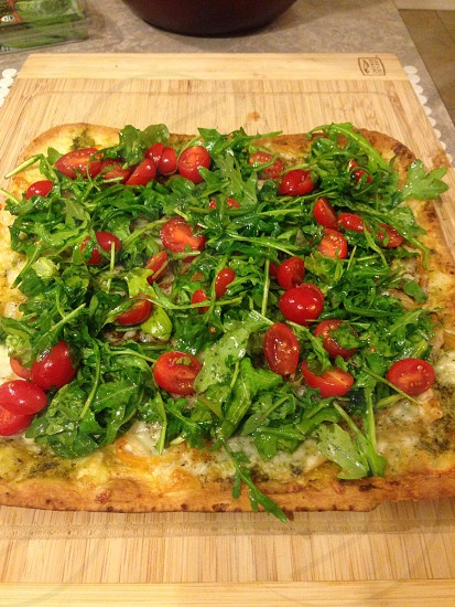 Flatbread pizza. photo