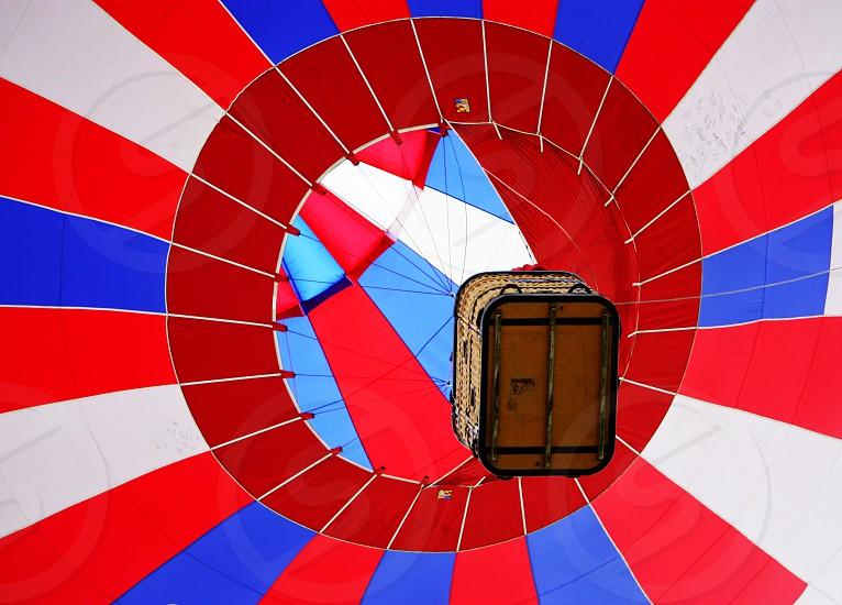 Hot air balloon basket photo
