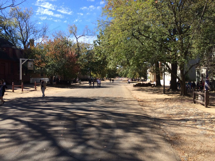 Street in Colonial Williamsburg photo