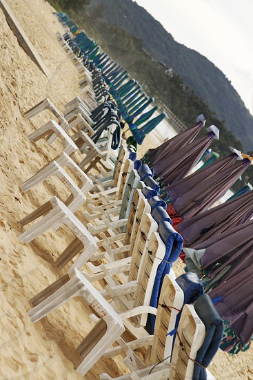 Beach chairs Thailand  photo