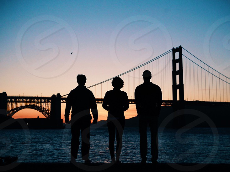 Golden gate San Francisco Road trip travel 3 people adventure cross country California  photo