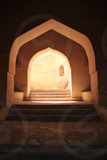 Middle Aest Oman traditional architecture alley photo