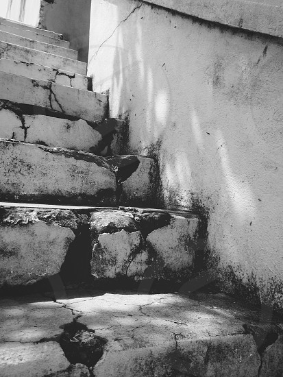 Stairs in a broken city photo