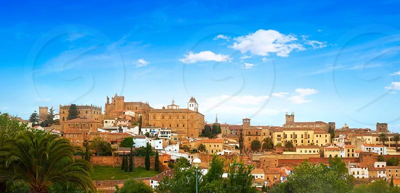 Caceres skyline in Extremadura of Spain by Via de la Plata way photo