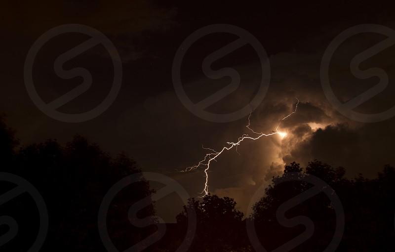 Lightning Storm in Hartford CT  photo